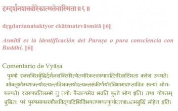 YOGA SŪTRA II.6 – S . H. ĀRANYA