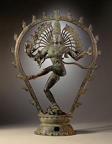 Imagen del dios hindú Shiva como Nataraja, el danzante cósmico.